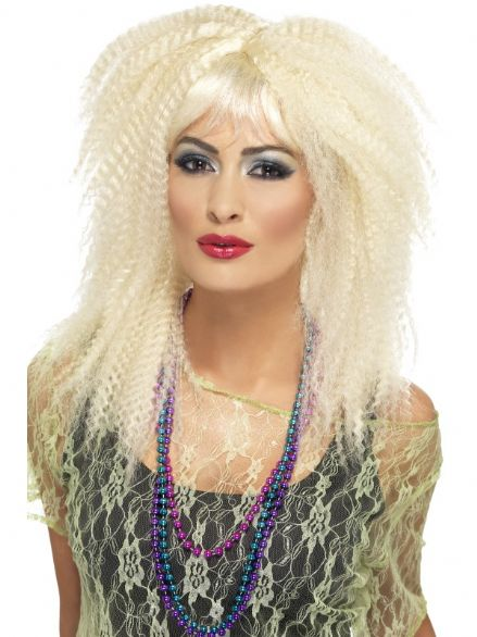 1980's Crimp Wig Blonde